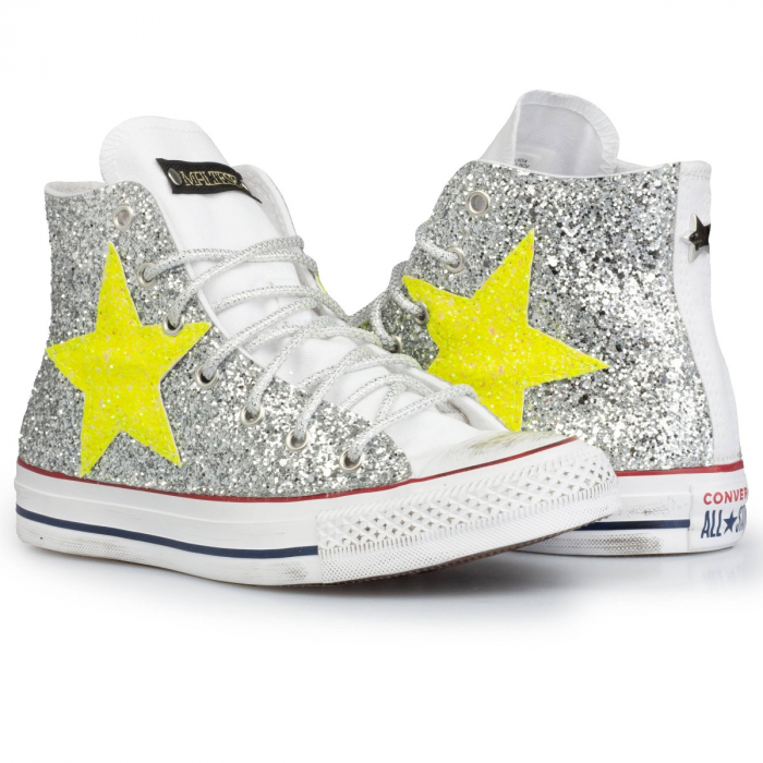 all star glitter neon stars