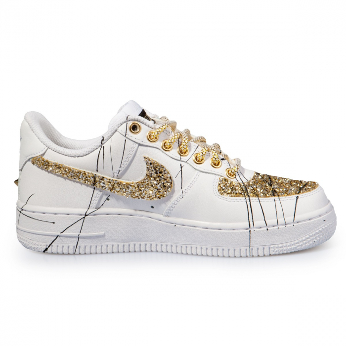 Air Force Glitter Low Ink Gold | Il Maltese Lab scarpe
