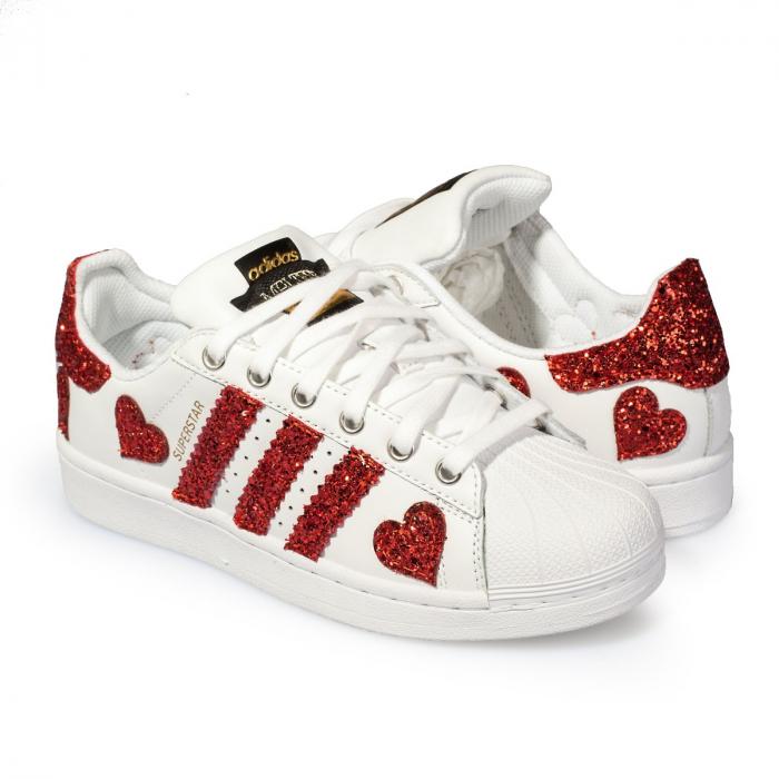 adidas superstar heart