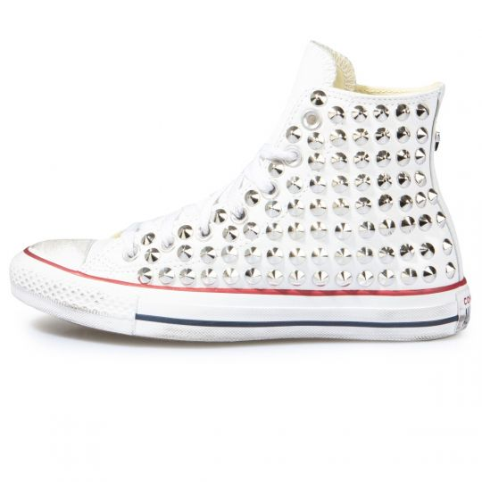 all star WHITE CONE PELLE