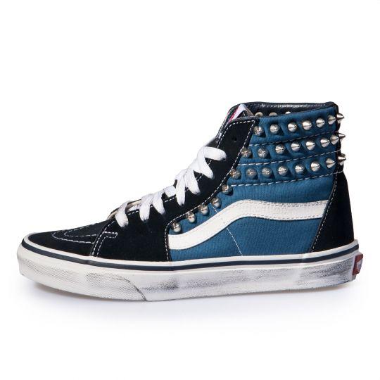 vans SK8 HI BLACK / BLUE xx