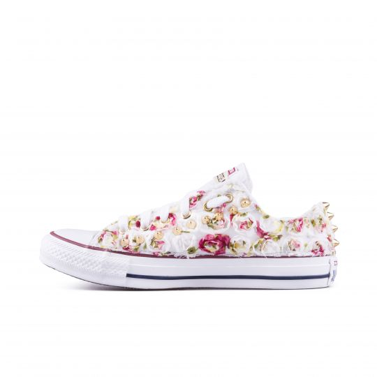 all star low LACY LIL ROSES