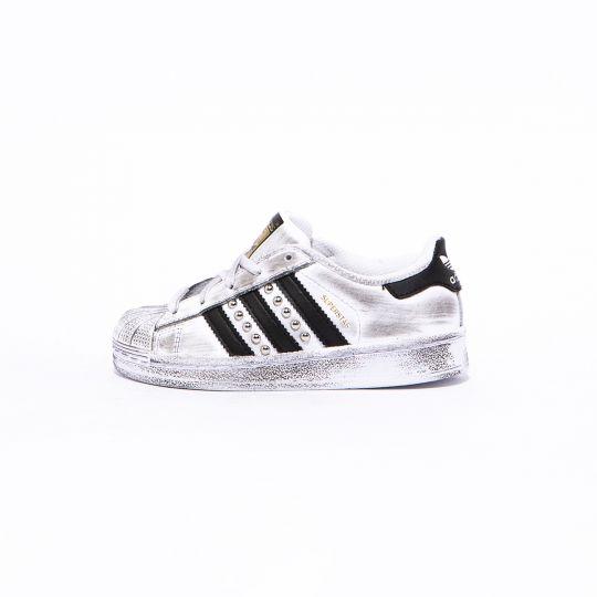 Adidas Superstar Black Dirty Studs Kid