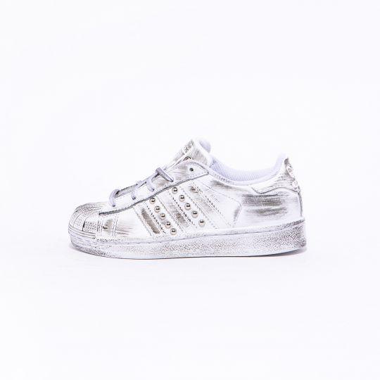 Adidas Superstar Mono White Dirty Studs Kid