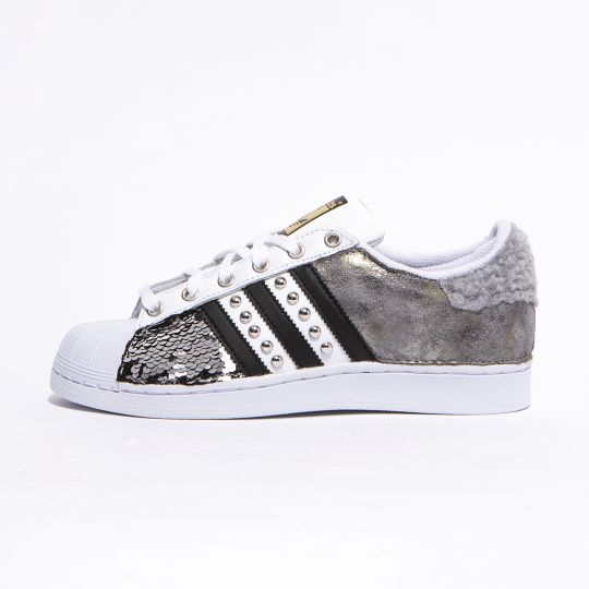 adidas superstar imls curly paillettes