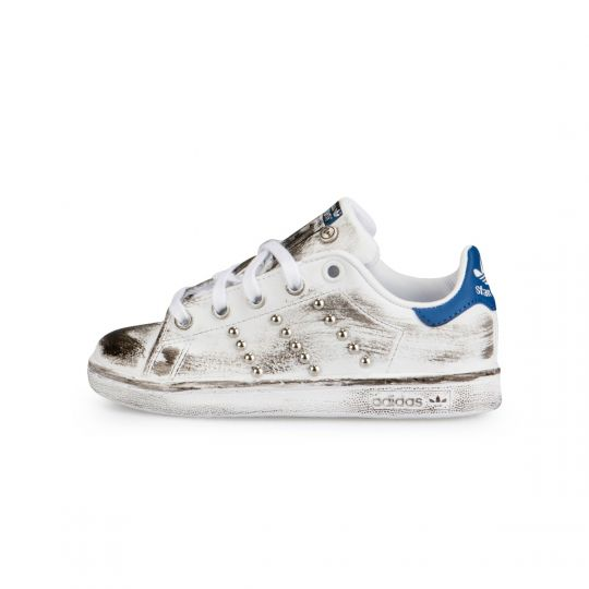 Adidas Stan Smith Blue Dirty Studs Kids