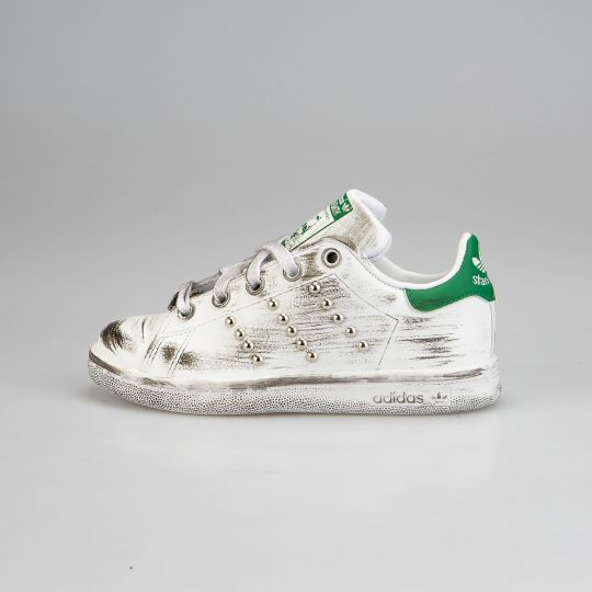 Adidas Stan Smith Green Dirty Studs Kid