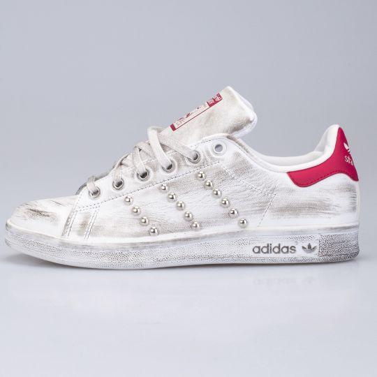Adidas Stan Smith Red Dirty Studs