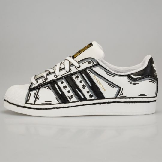 ADIDAS SUPERSTAR COSPLAY CONAN BLACK