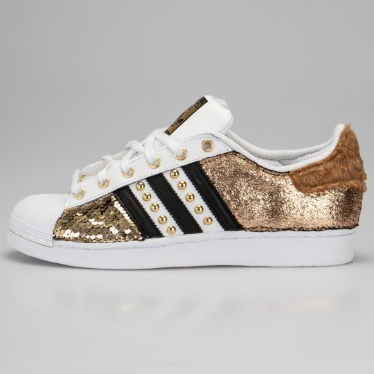 Adidas Superstar IMLS Curly Gold Paillettes