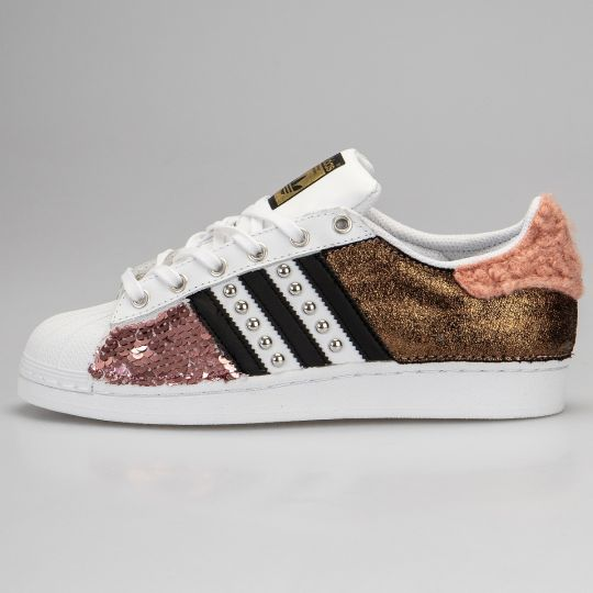 Adidas Superstar Curly Stripe Rose Paillettes
