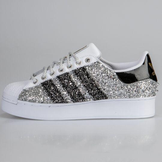 Adidas Superstar Dmc Silver Platform