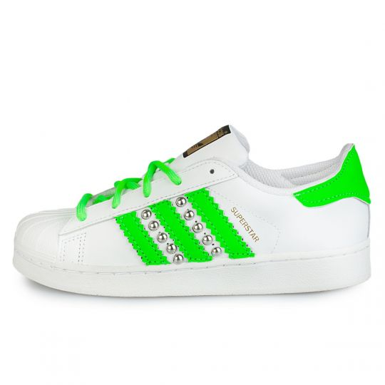 adidas superstar green neon studs