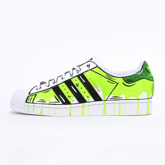 ADIDAS SUPERSTAR GREEN POURING PAINT