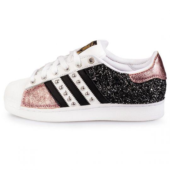 adidas superstar IMLS dark rose glitter