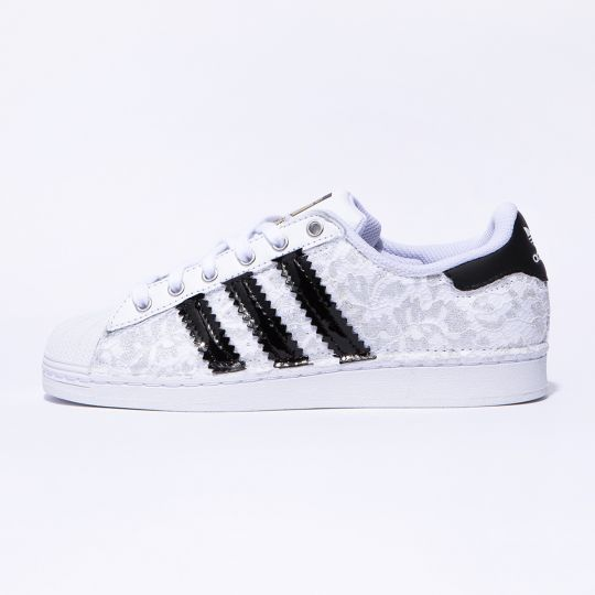 ADIDAS SUPERSTAR SILVER LACY