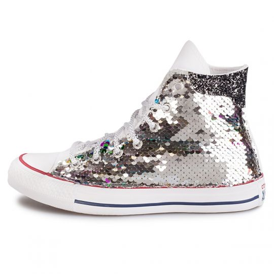 all star de-la silver paillettes