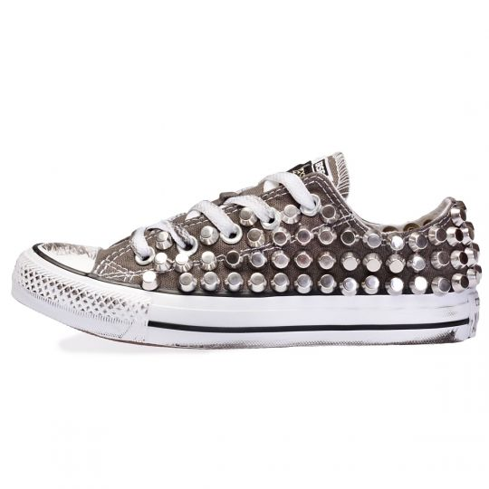 all star GREY CHARCOAL LOW ROCK