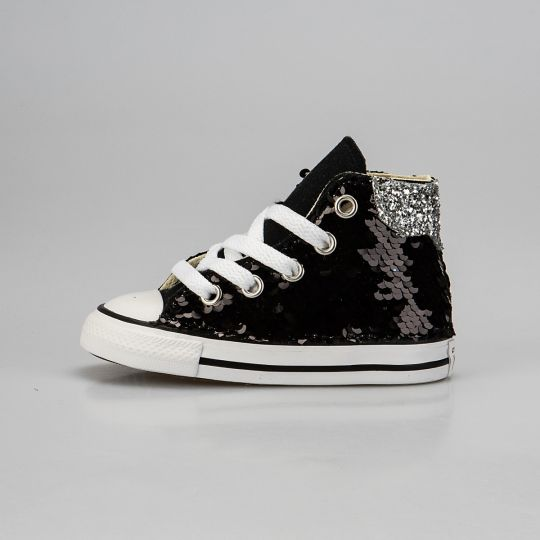 All Star Hi Black De-la Paillettes Kid