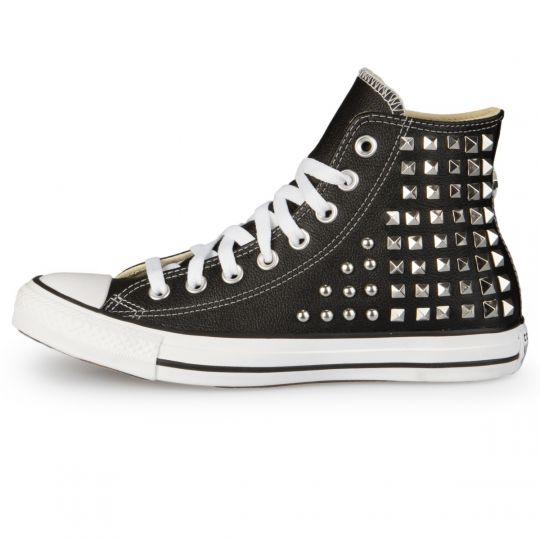 All Star Hi Black Geometry Pelle