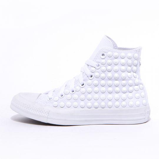 all star hi Monochrome Full White