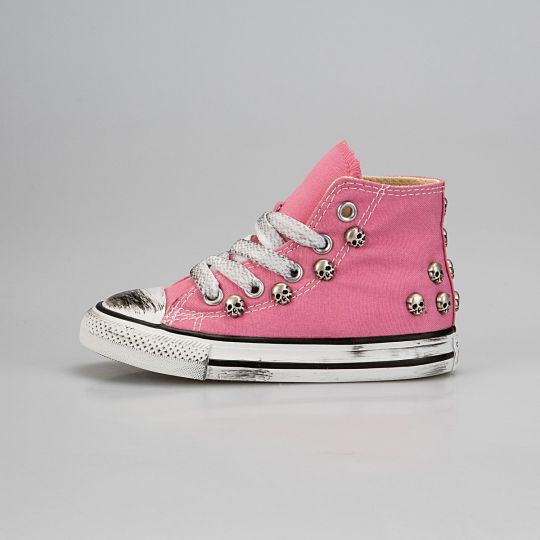 All Star Hi Pink Skull Dirty Kid