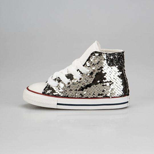 All Star Hi White De-la Paillettes Kid