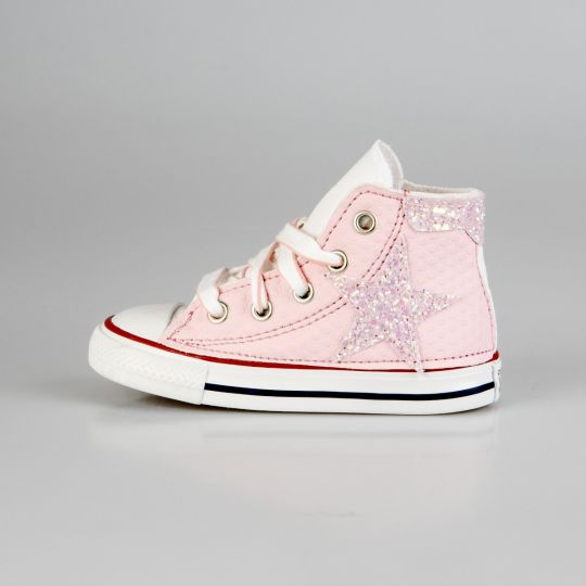 All Star Hi White De-la stars Lego Rose Kid