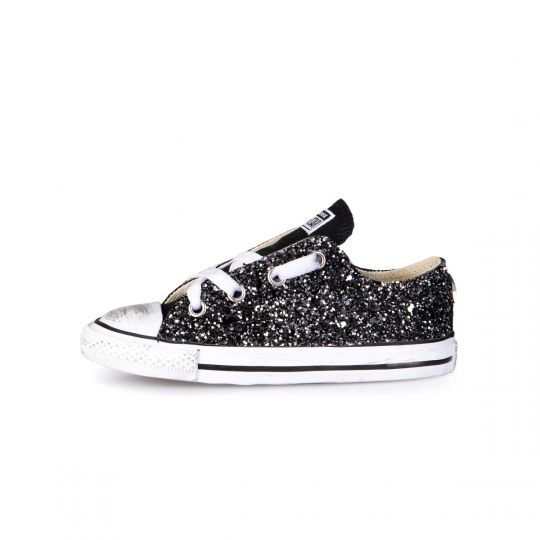 ALL STAR LOW BLACK RUNAWAYS 20-26