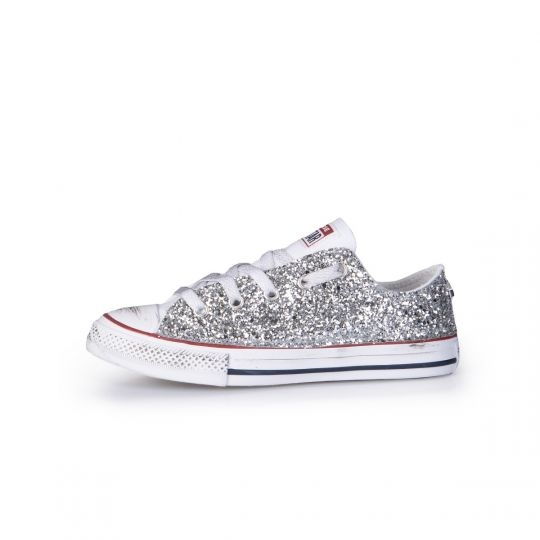 ALL STAR LOW WHITE RUNAWAYS kid