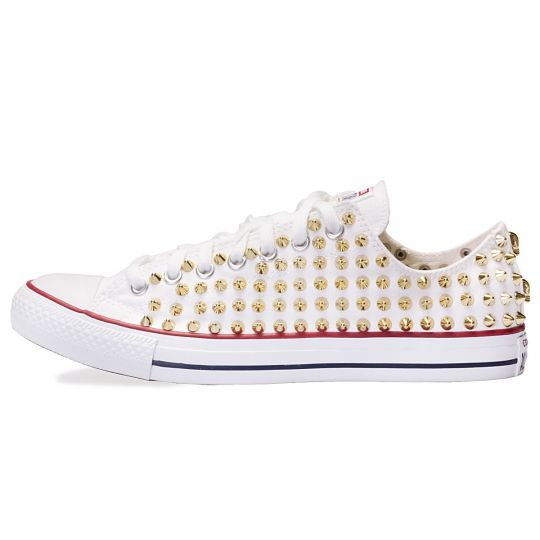 all star WHITE / GOLD LOW POINT