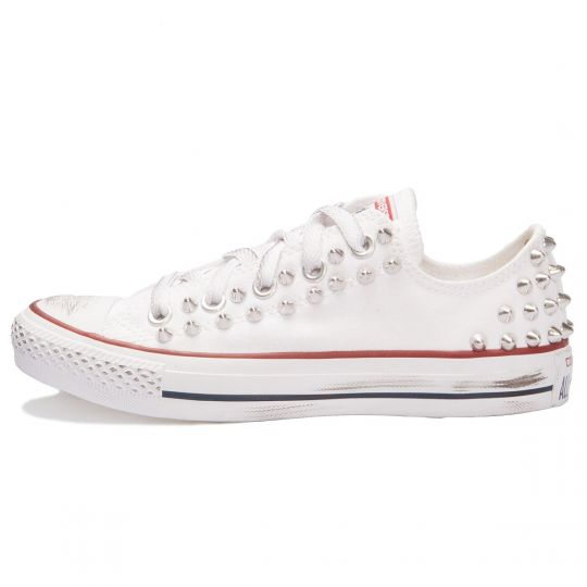 all star low WHITE BACK SILVER