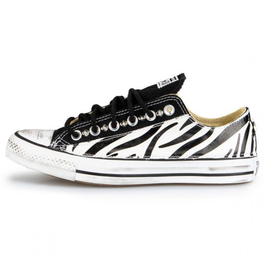 All Star Low Black Zebra