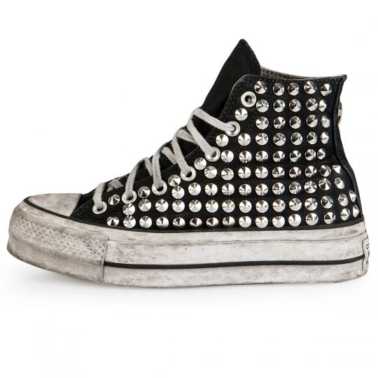 Platform Black Full Studs Smoke