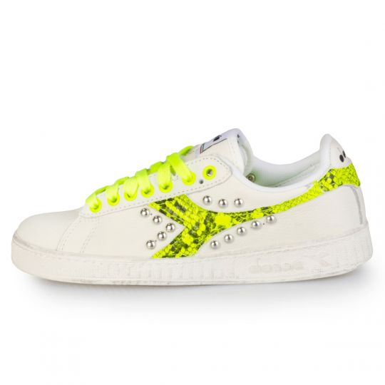 diadora game fluo pytho yellow