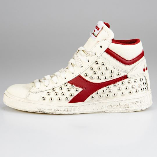 diadora game hi red full studs