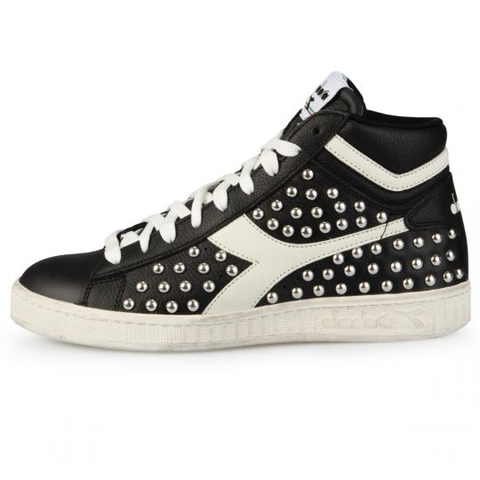 Diadora Game Hi Total Black Full Studs