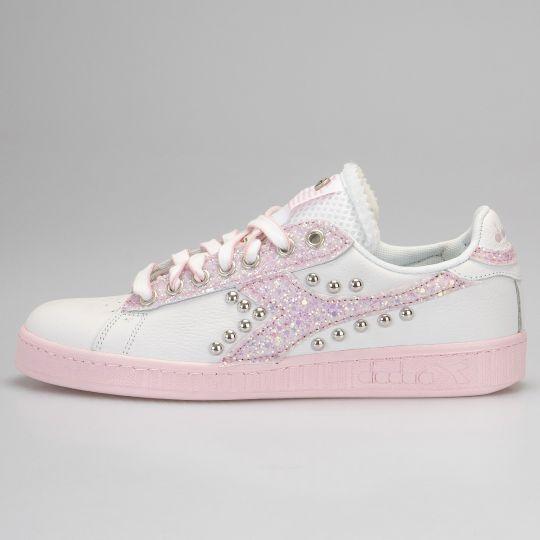 Diadora Game Pink Glitter Sole