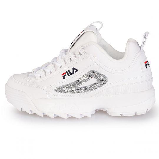 fila disruptor white glitter