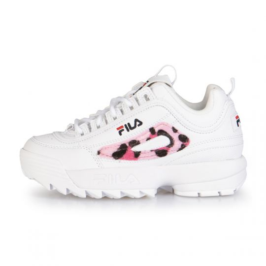 fila disruptor white leo kid