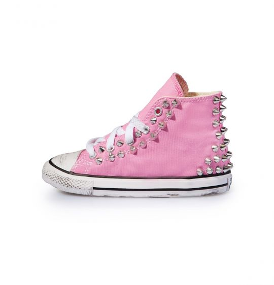 all star hi PINK BACK STUDS kid