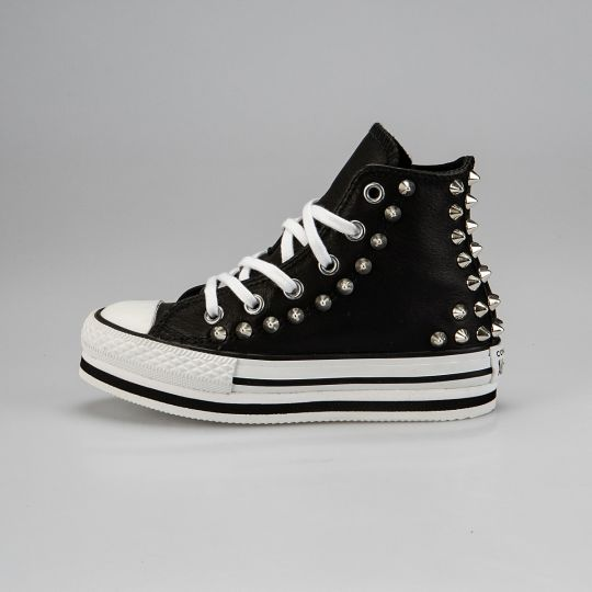 Platform Hi Black Back Kid Pelle