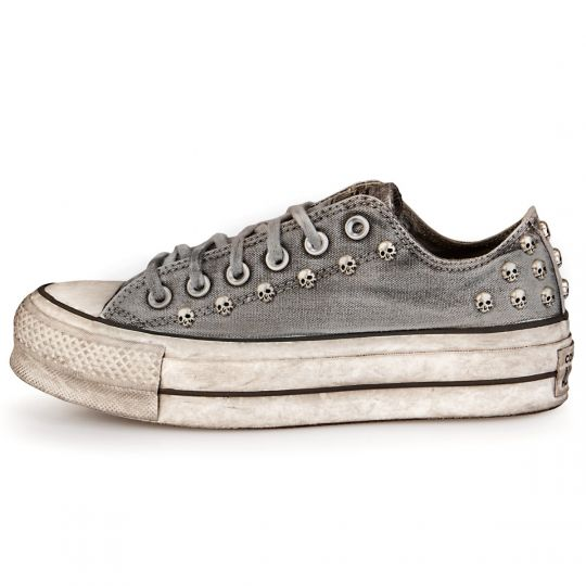 Platform low Grey Skull Dirty Washed
