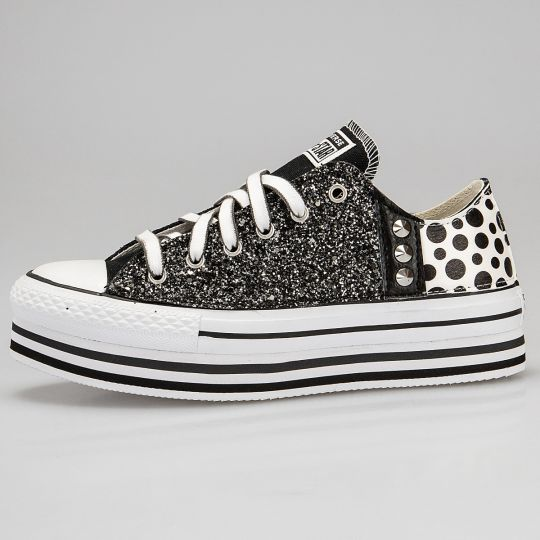 Platform Low Lines Stripe Space Pois Glitter