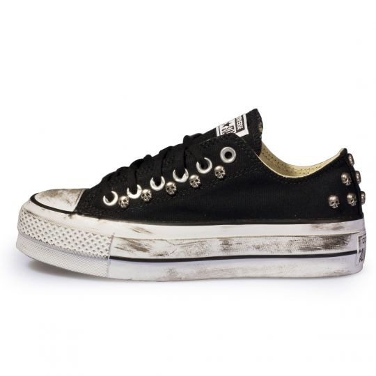 platform low Black Dirty Skull