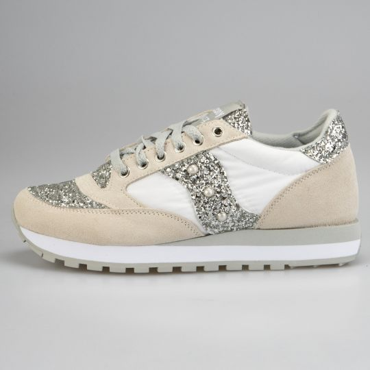 Saucony Jazz White Runaways Silver