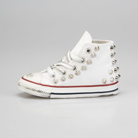All star hi WHITE BACK STUDS Kid