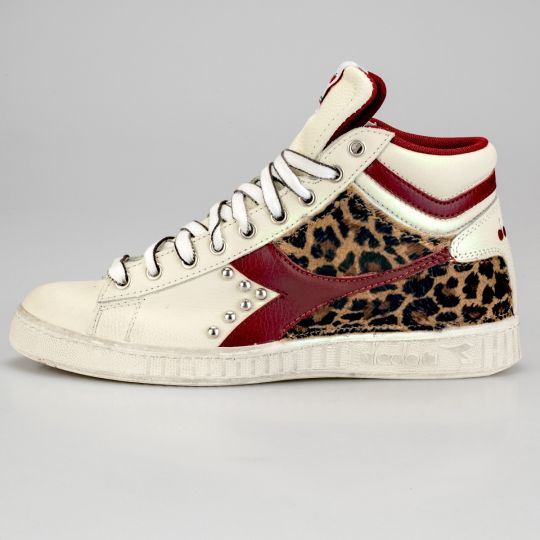 Diadora Game Hi Animalier Red