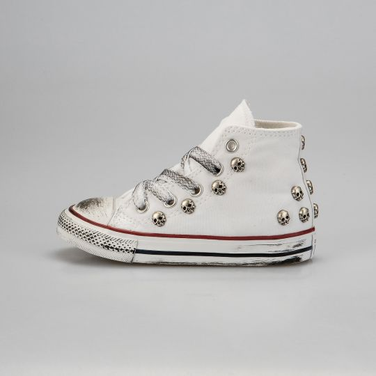 All Star Hi White Skull Dirty Kid