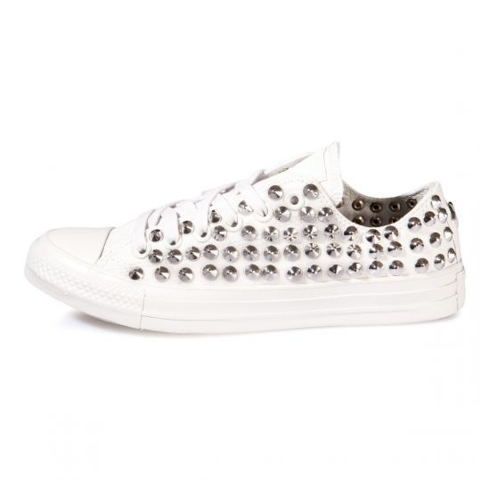 all star MONOCHROME WHITE LOW CONE